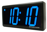 BRG Precision Products DuraTime HP440B high precision plug-in digital wall clock with a 4-digit 4-inch high blue LED display.