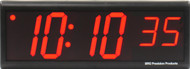BRG Precision Products DuraTime HP640R high precision plug-in digital wall clock with a 6-digit 4-inch high red LED display.
