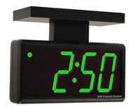 BRG Precision Products DuraTime HP440G-2SB double-sided ceiling or wall-mounted high precision plug-in digital clock with a 4-digit 4-inch high green LED display.