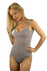 Adjustable strap underwire tank in Tiny Flower print.