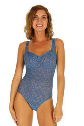 Blue Caged CD underwire cup women's swimwear from Lifestyles Direct Tan Through swimsuits.