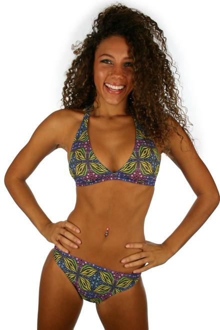 Halter top from Lifestyles Direct Tan Through Swimwear in green Heat.