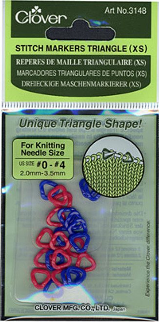 Clover Extra Small Triangle Stitch Markers #3148
