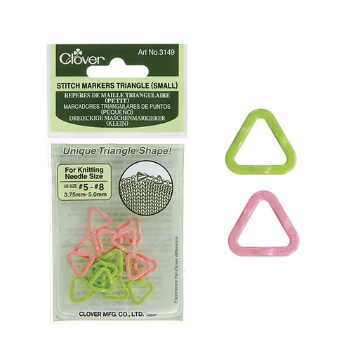 Clover Small Triangle Stitch Markers (US#5-8 needles) #3149