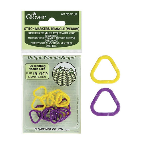 Clover Medium Triangle Stitch Markers #3150