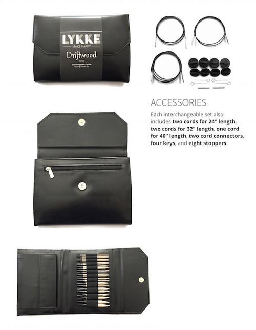 Lykke Driftwood Interchangeable  Faux Black Leather