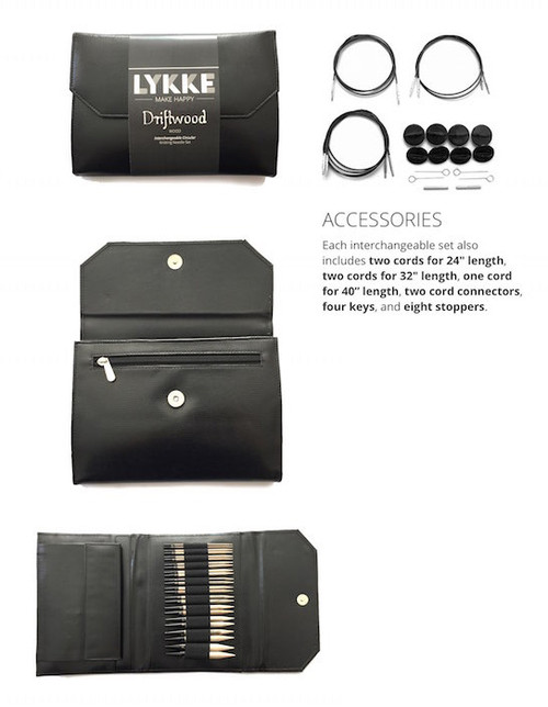 Lykke Driftwood Interchangeable  Faux Black Leather