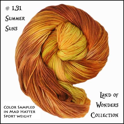 Frabjous Fibers: Wonderland Yarns - March Hare -  Summer Suns 131
