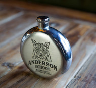 Anderson School Bobcat Round Flask - 5oz