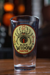 Black Widow 25 Year Pint Glass