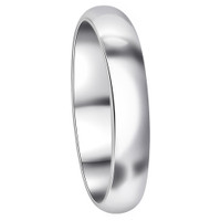Sterling Silver 4mm Plain Wedding Band