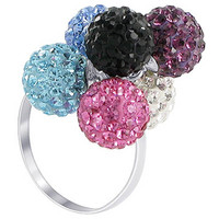 925 Sterling Silver Multicolored 8mm Round Ring #AFRS025