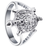 925 Sterling Silver Turtle Ring