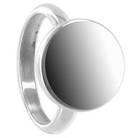 925 Plain Sterling Silver Engravable 14mm Round Ring #BDRS026