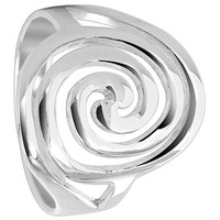 925 Plain Sterling Silver Swirled Oval 3mm Ring #CBRS005