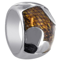 925 Sterling Silver Enamel Inlay Ring #CSRS009