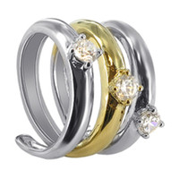 Sterling Silver Cubic Zirconia 2 tone Spiral Ring #CSRS010