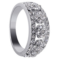 925 Sterling Silver Cubic Zirconia Ring #DSRS017