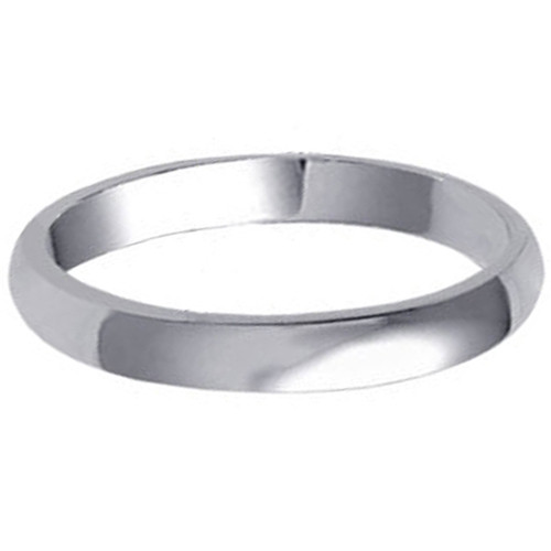 925 Sterling Silver 3mm Wide Wedding Band