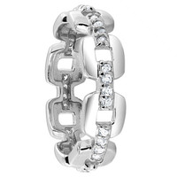 925 Sterling Silver Cubic Zirconia Round 5mm Band