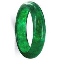 Green Gemstone 5mm Band  #KJR023