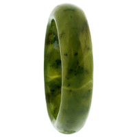 Men's Fragile Olive Gemstone 6mm Band  #KJR024