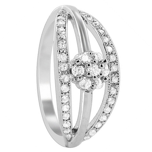 925 Sterling Silver 9mm wide 3 Slim band with Flower Design Ring
