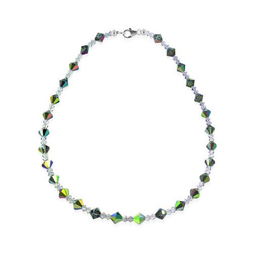 925 Sterling Silver Vitrail Medium Swarovski Elements Crystal Necklace