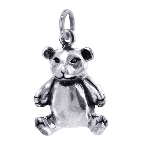 Sterling Silver 27mm x 16mm Teddy Bear Charm Pendant