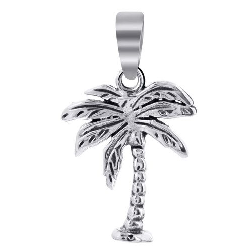 Sterling Silver 25mm x 15mm Palm Tree Pendant
