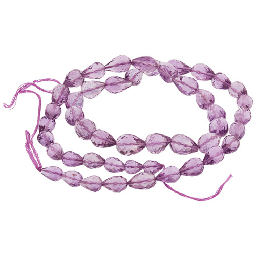 Faceted Pink Amethyst Straight Drill Drop Beads