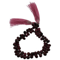 Faceted Rhodolite Teardrop Beads