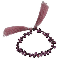 Faceted Rhodolite Flat Teardrop Beads
