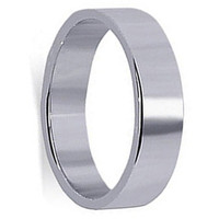 Men's Sterling Silver Prominent 6mm Plain Band