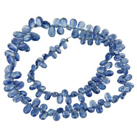 Kyanite Plain Pear Beads