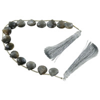 Black Feldspar Teardrop Beads for Jewelry Making