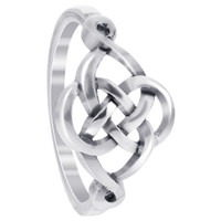 925 Sterling Silver Celtic Rounded Knot Design Ring #LWRS127