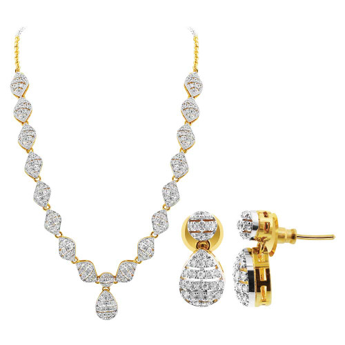 Ethnic Bollywood Indian Earrings Necklace Jewelry Set