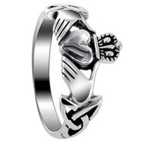 Sterling Silver Irish Claddagh Celtic Friendship and Love Ring