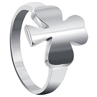 925 Sterling Silver Polished Finish Clover Ring