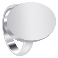 925 Plain Sterling Silver Oval Engravable Ring #LWRS147
