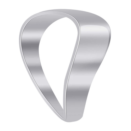 925 Sterling Silver Wave Plain Thumb Ring