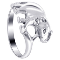 925 Plain Sterling Silver Elephant Ring #LWRS153