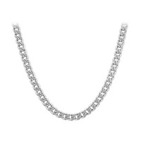 Men's Stainless Steel 5mm wide Curb Link Chain Necklace