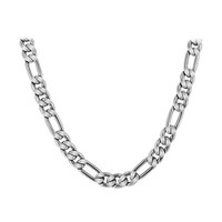 Stainless Steel 6mm wide Figaro Chain Necklace
