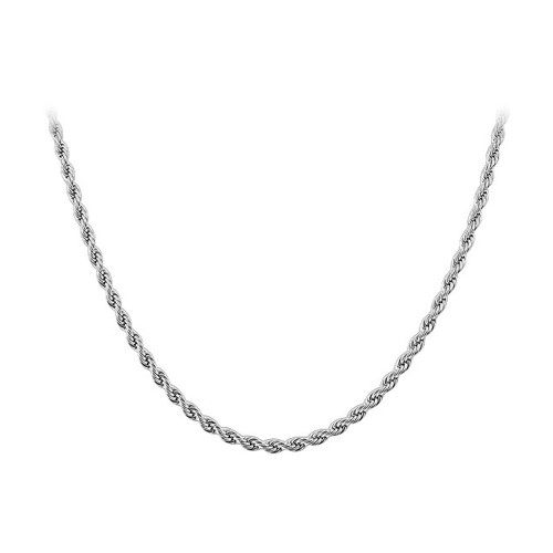 Stainless Steel 2mm wide Rope Chain Necklace