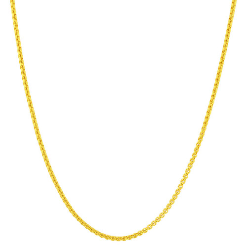 Stainless Steel Gold Plated 2mm Rolo Box Chain Necklace