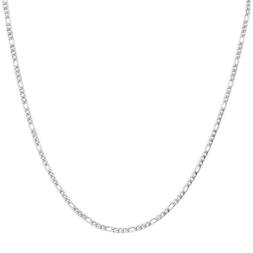Stainless Steel 3mm Figaro Chain Necklace