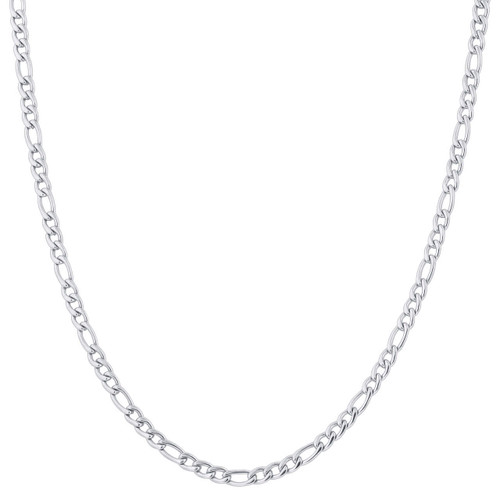 Stainless Steel 4mm Figaro Chain Necklace