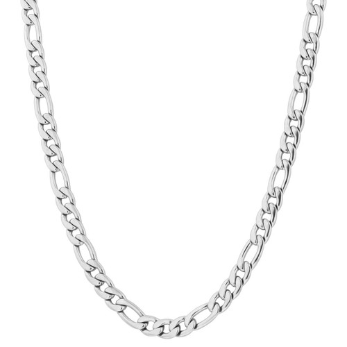 Stainless Steel 9.5mm Figaro Chain Necklace For Men